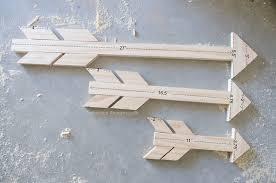 wood arrow measurements for 3 diffe size arrows