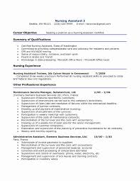 Cna Job Description For Resume Unique Resume Template For Nursing