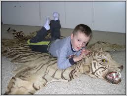 tiger skin rug with full head rug designs