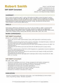 Sap Hr Resume Sample Fascinating ABAP Consultant Resume Samples QwikResume
