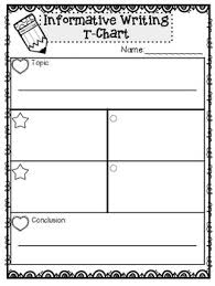 Step Up To Writing T Chart Step Up To Writing Resource