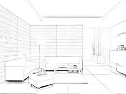 Interior Design Living Room Sketches Nice Furniture Simple Sketch