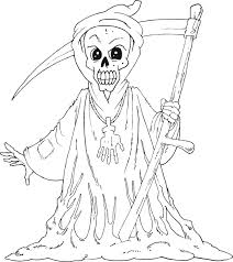Halloween Monster Coloring Pages Courtoisiengcom