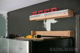 creating a cleat for a cabinet above the refrigerator