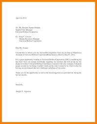 resignation letter example with reason example of resigning letter seek an experienced senior transport and a cover letters for your current available position you are relocating resume