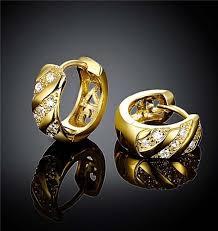 Diamond <b>earrings</b> type -<b>2019 new</b> design 18k gold plated swiss ...