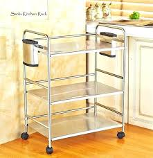 metal microwave stand chrome 3 tier utility storage kitchen cart workstation target back to article a