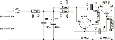 misc audio tutorials circuits and diagrams music amplifiers preamp microphone phantom power supply