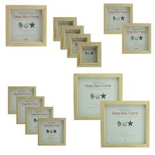 details about 20mm deep natural wood box frames 3 x3 12 x12 value multipacks