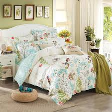 duvet cover set without comforter past bird printing bedding sets queen double size 100 cotton