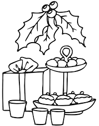 Small Picture Christmas Cookies Coloring Page Goodies Gift Holly