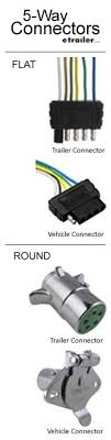 best 20 trailer light wiring ideas on pinterest rv led lights 5 Way Trailer Light Wiring Diagram 5 way connectors allow the basic hookup of your running, turn, and brake 5 way trailer plug wiring diagram