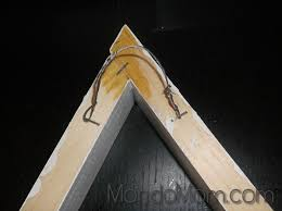 diy triangle shelves picture hanging wire loop