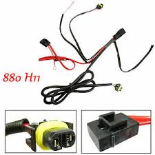 880 h11 h8 relay wiring harness for hid conversion led kit add on image is loading 880 h11 h8 relay wiring harness for hid
