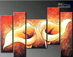 wall paintings for office abstract wall flower oil painting canvas modern home office wall art decor