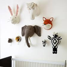 Bedroom Decoration Animal Rabbit Swan Monkey Horse Frog Head Wall Mount  Stuffed Plush Toys Felt Artwork