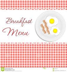 Breakfast Menu Vector Illustration Stock Vector