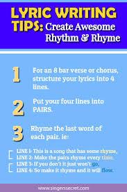Lyric Writing Class Create Awesome Rhythm Rhyme Rhymes