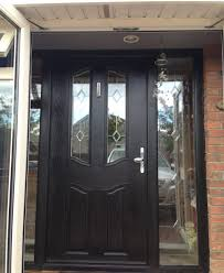 double glazed front doors and side panels glass door regarding size x ideas pvcu upvc company