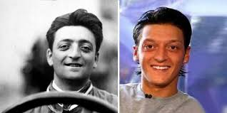 While some people believe in reincarnation, others don't but after seeing the similarities between arsenal player mesut ozil and founder of ferrari, enzo ferrari, many believed there is more to this than just mere coincidence. Enzo Ferrari Und Ozil