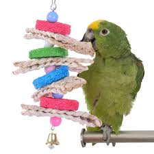 2019 new towel gourd bird toys handmade pets parrot toys healthy log playing chewing pecking toy toys for parrots birds have fun from chenbinfeng