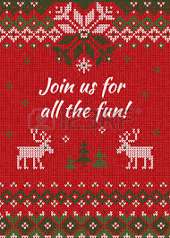 christmas sweater pattern background green. Simple Sweater Ugly Sweater Christmas Party Invite Vector Illustration Handmade Knitted Background  Pattern With Deers And Snowflakes For Sweater Pattern Background Green