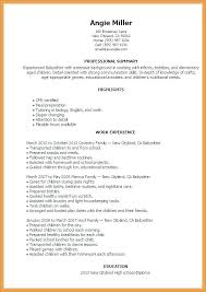 Baby Sitting Resume Unique Resume Cover Letter Template Babysitter Skills Awesome High