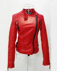 women faux leather jacket long