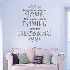 on wall art decoration vinyl decal sticker with home family blessing love wall art christian vinyl decor wall decal
