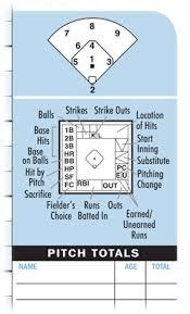 baseball scorekeeping sheet baseball scorebooks baseball scorecards