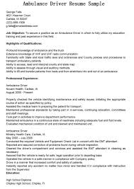 Ambulance Driver Resume Sample Resume Ambulance Driver Resume Papers 1