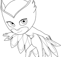 Remarkable Pj Masks Coloring Pages Free To Print Owlette Gecko