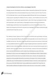 "evaluate the historicity of the trojan war"" essay year hsc  preliminary ancient history trojan war essay"