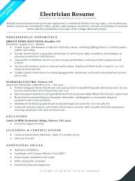 Sample Of Electrician Resumes Electrician Cv Template Velorunfestival Com