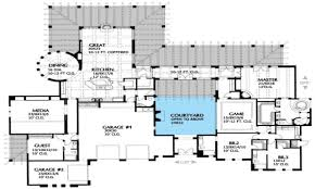 house plans with courtyards of spanish revival post