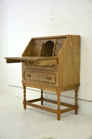 450 elegant and small las limed oak writing bureau with drop front desk 450
