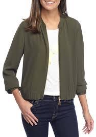 michael kors dog tag cropped er jacket ivy women s clothing coats jackets