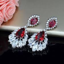 elegant chandelier top quality cubic zirconia crystal dangle drop earrings
