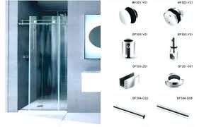 shower door hardware customized sliding glass for decoration kits roller bracket