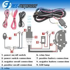 Universal LED Light Bar Fog Light Wiring Harness Kit 40A 12V ...