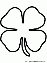 Small Picture Clover Shape Coloring Coloring Pages