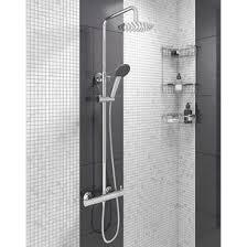 exposed shower system. Vellamo Blade Round Thermostatic Exposed Shower System