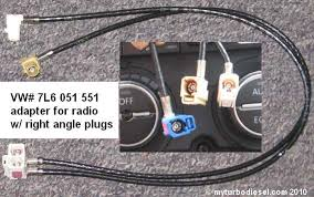 rns510 rns315 gps or rcd510 installation in a mk5 vw vw tdi if you want satellite radio you have to use an antenna adapter the old radio uses an external sirius module which sent the signal from the antenna to the
