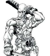 Deadpool Coloring Pages Pdf Coloring Pages Printable Sheets Page