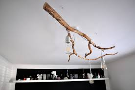 tree branch light fixture breathtaking nature inspired diy chandelier shelterness interior design 9