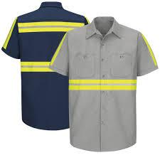 Red Kap Sp24 Enhanced Visibility Short Sleeve Industrial Work Shirt