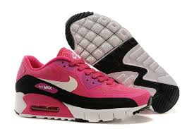 nike shoes for girls air max. air max 90 womens pink/black-white nike shoes for girls