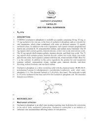Tamiflu Dosing Chart Tamiflu Oseltamivir Phosphate Capsules And For Oral
