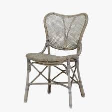 jordan grey rattan side chair