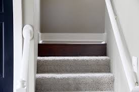 Carpet To Hardwood Stairs The Yellow Cape Cod How To Transition Between Two Different Wood